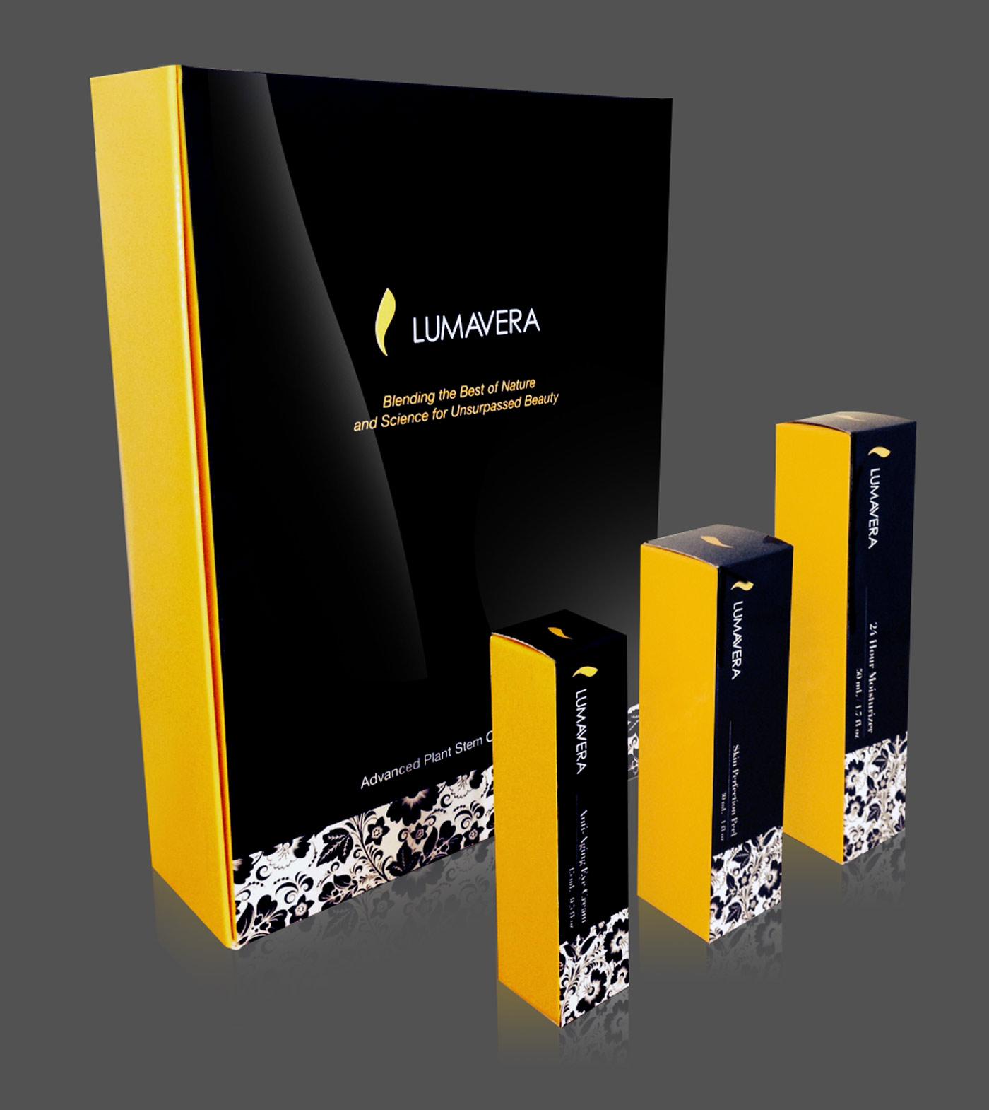 Lumavera Cosmetics Packaging Design
