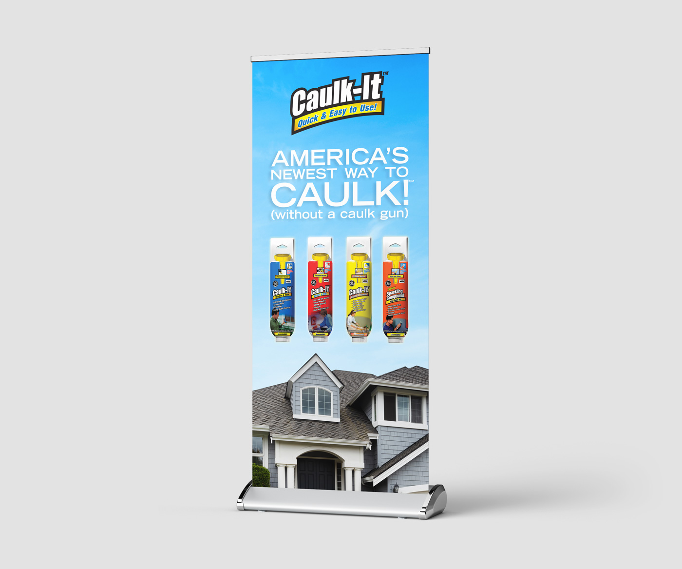 General Electric Caulk It Trade Show Display